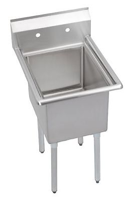 Elkay Stainless Steel Scullery Sink, Without Faucet, 18 Gauge, Floor Mounting