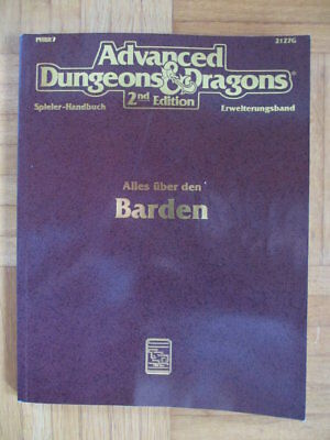 AD&D 2nd Edition – Alles über den Barden 2127G HPBR7 Deutsch Advanced Dungeons &