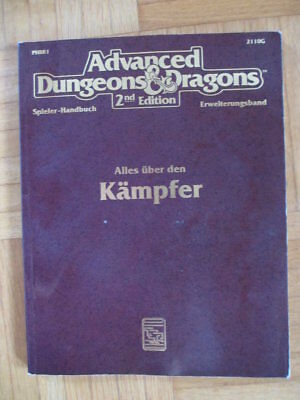 AD&D 2nd Edition – Alles über den Kämpfer 2110G HPBR1 – Deutsch Advanced Dungeon