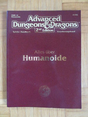 AD&D 2nd Edition – Alles über Humanoide 2135G HPBR10 – Deutsch Advanced Dungeons