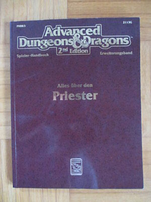 AD&D 2nd Edition – Alles über den Priester 2113G HPBR3 – Deutsch Advanced Dungeo