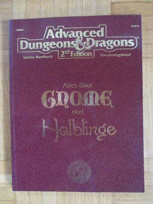 AD&D 2nd Edition – Alles über Gnome und Halblinge 2134G HPBR9 – Deutsch Advanced