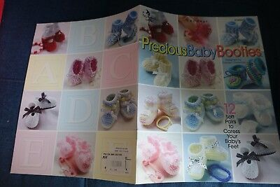 ANNIE/'S ATTIC PRECIOUS BABY BOOTIES CROCHET BOOK #874050