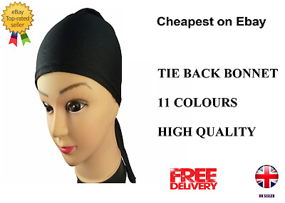 Quality flexible Polyester Under Scarf Bonnet Tie Back Cap Head Scarf Chemo