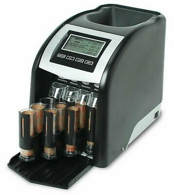 Electric 4 Row Coin Sorter Digital Motorized Automatic Change Counting Machine