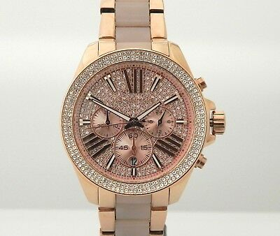 7c4d45feb195 MICHAEL KORS MK6096 Wren Crystal Pave Chronograph Dial Watch ...