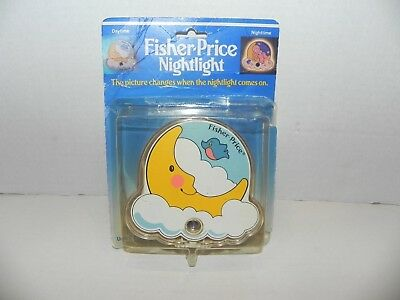 FISHER-PRICE Vintage 1986 Nightlight Changing Picture Day/Night Moon