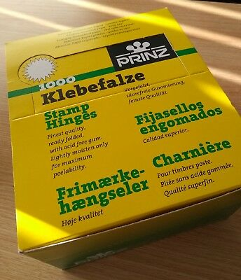 ***Complete box of PRINZ STAMP HINGES*** - 50 packets (50,000)