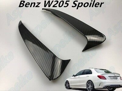 AMG Carbon Fiber Canard/Air Vent Cover Trim For Mercedes-Benz Cclass W205 Bumper