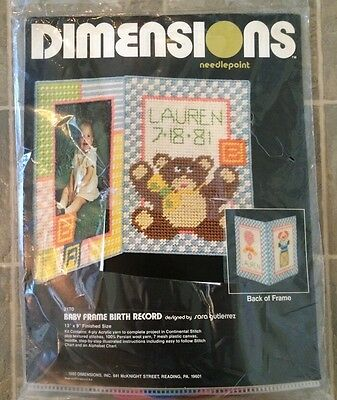 Needlepoint Baby's Teddy Kit Dimensions 2170 Record Name Needle Stitch crafts