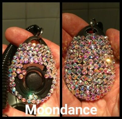 Dog training clicker crystal Swarovski bespoke