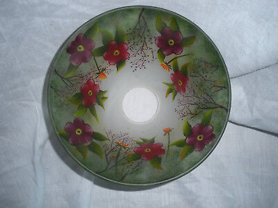 Antique reverse painted lamp shade
