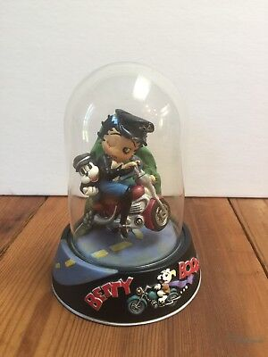 "1997 Betty Boop "" Born To Be Boop ""  Hand Painted Figurine In Glass Dome"