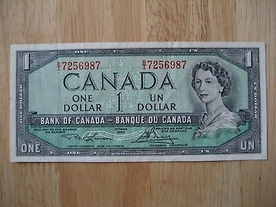 Canadian 1954 $1 bank note