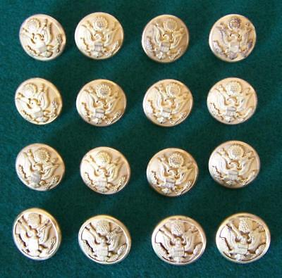 """16 Vintage Us Army Eagle Brass Buttons 7/8"""" Diam- Marked M.c. Lilley & Superior"""