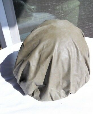 Vintage US Military M1 Rear Seam Swivel Bale Steel Helmet w/ Chemical Cover