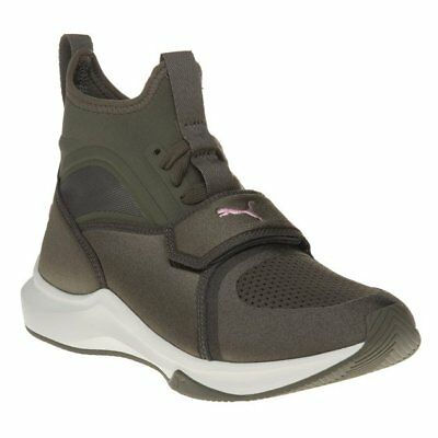 33548da2c28 New Womens Puma Green Khaki Phenom Neoprene Trainers Sports Luxe Elasticated