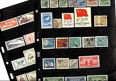 CHINA PRC, Excellent Assortment of Stamps in stock cards