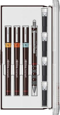 Rotring Isograph Junior 3+1 Pens Set .20.40 .60 0.5mm Pencil New In Box S0699340