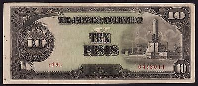 Philipines - Japan occupation WWII Banknote 10 Pesos 1943 P-111a