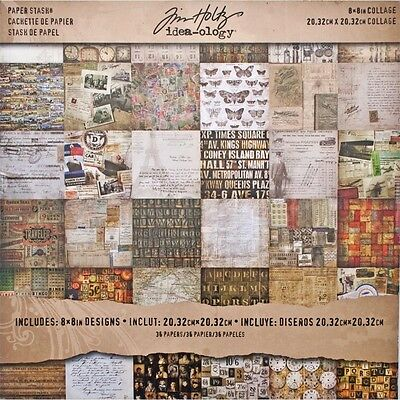 "Idea-Ology Paper Stash Paper Pad 8""X8"" - Collage -  36/Pkg"