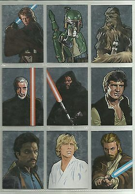 Star Wars Galaxy Series 5 - Complete Silver Chase Card Set (1-15) @ Near Mint
