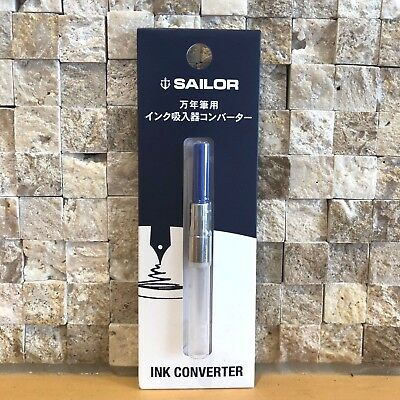 NEW Sailor Fountain Pen Ink Inhaler Converter Color Blue 14-0506-240 S/F Japan