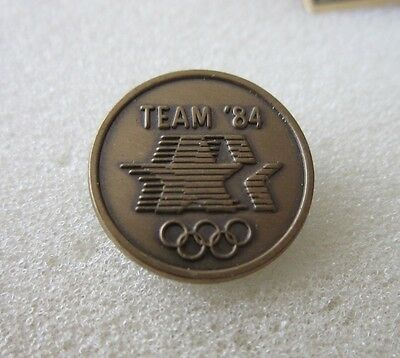 1984 LOS ANGELES  Olympics OFFICIAL LOGO  BADGE PIN