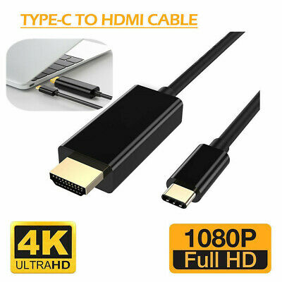 USB 3.1 Type-C USB-C to 4K HDMI HDTV Adapters Cable For Samsung Galaxy Macbook