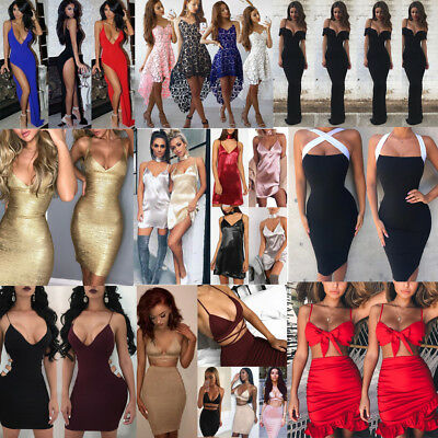 Women Sexy Casual Summer Mini Dress Cocktail Party Evening Bodycon Sleeveless US