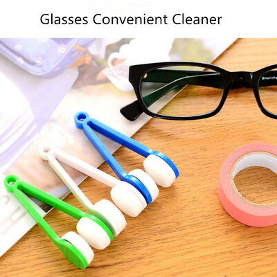 5pcs Lens Microfibre Cleaner Glasses Spectacles Eyeglasses Cleaning Cloth Brush