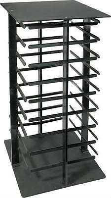 Earring Display Stand Revolving Black Acrylic Rotating Holds 144 Earring Cards