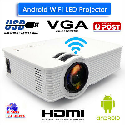 Android Wifi 7000 Lumen Portable LCD LED Outdoor Theater Projector 1080p HDMI HD