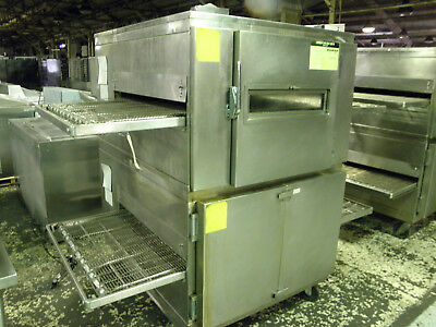 "Lincoln Impinger 1000 Double Stack Nat Gas 32"" Pizza Bread Baking Conveyor Oven"