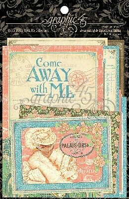 "G45 - Come Away With Me - 4x6"" and 3x4"" Journaling & Ephemera Cards"