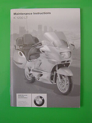 Genuine Bmw K1200Lt Maintenance Instructions