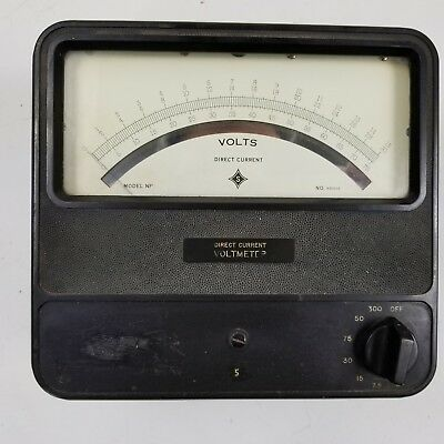 Sensitive Research Instrument Corp Direct Current Voltmeter Model NP 0-75 Volts