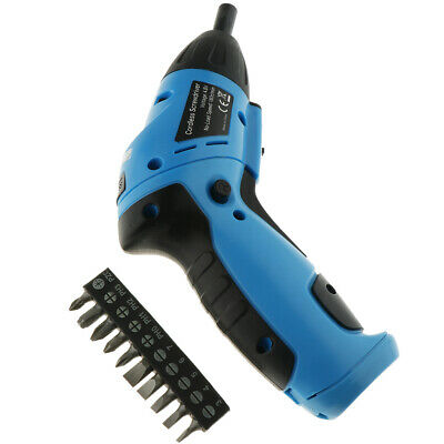 6V Electric Screwdriver Battery Operated Cordless 10pc Screw Bits Drill Tool