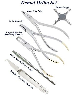Orthodontics Light wire Lingual Bracket Removing pliers Boone Gauge instruments