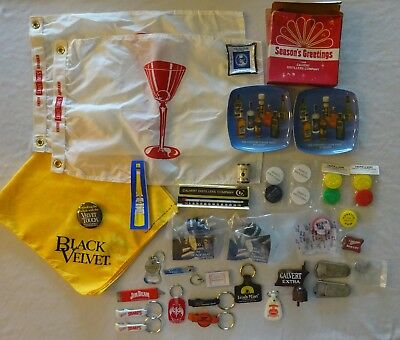 Vtg Liquor Beer Promotional Items Guinness Fatstaff Seagrams Black Velvet Lot 39