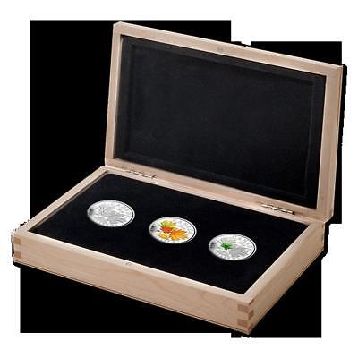 Royal Canadian Mint 2014 Majestic Maple Leaves Set of 3 $20 Pure Silver Coins