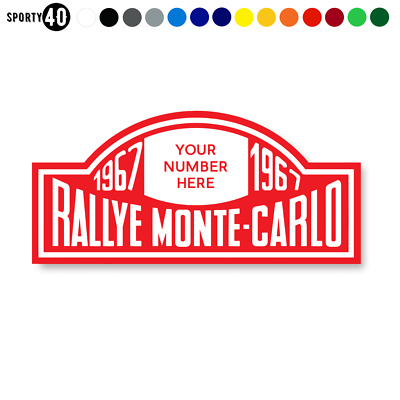 Monte-Carlo Rallye - Vinyl Sticker / Decal - Rally Replica Race Mini