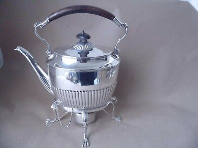 Excellent Large Victorian Sterling Silver Fluted Kettle 1884, 1,053 Grams