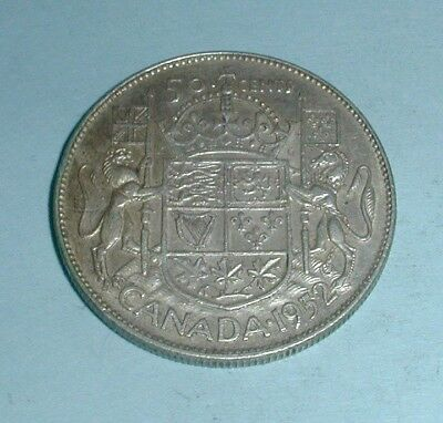 1952 Canada 50 Fifty Cent Coin