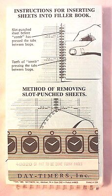 2 New Old Stock Day Timer Planner Refill Pages #48820 To Be Done Today Sheets