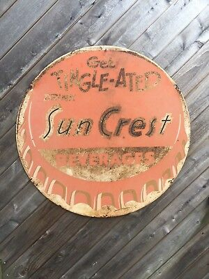 Large Suncrest Metal Sign Get Tingle-ated (3 feet diameter)