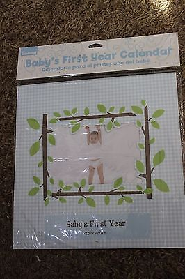 Baby's First Year Calendar with Stickers - boy