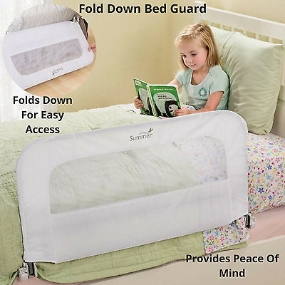 Portable Toddler Bed Guard Rail Folding Safety Frame Infant Bedguard Kids Cot