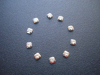 10 Silver Square Hour Markers With Cz Rhinestones For Men Datejust Day-Date Dial