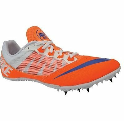 Nike Zoom Rival S 7 Track Spikes Running Shoes 616313-841 White/Orange Mens